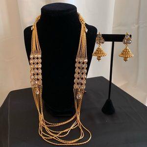 Jewelry - Long Kundan Necklace Set